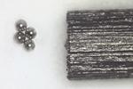 Steel balls measuring 0.1 mm in diameter